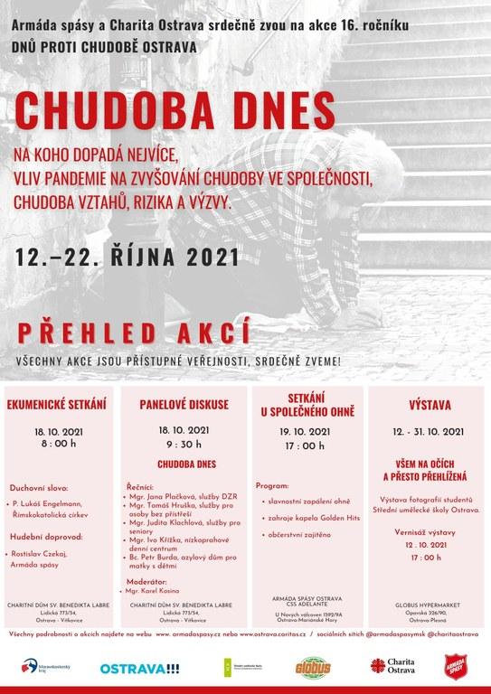 Akce Charity Ostrava na měsíc říjen 2021