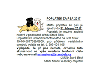Poplatek za psa 2017
